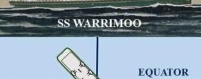 ss Warrimoo; We're only a few miles from the intersection of the Equator and the International Date Line